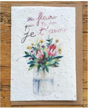 Des fleurs pour te dire je t'aime