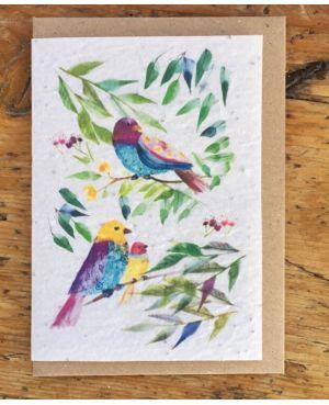 Oiseaux fleurs des champs