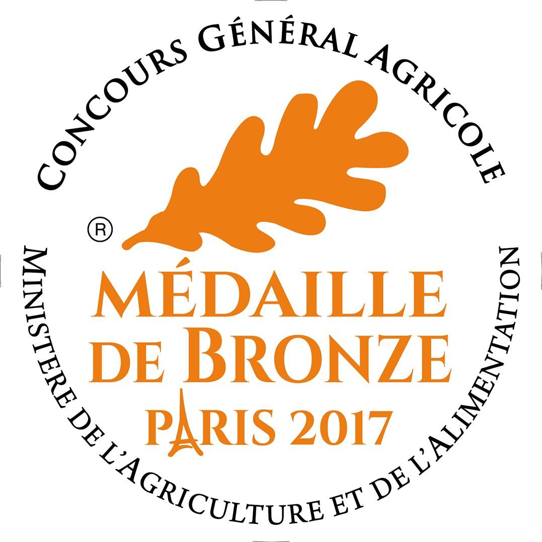 Médaille de bronze au concours général agricole 2017